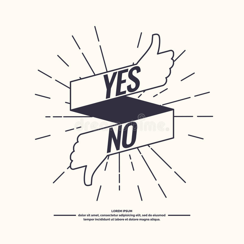 Yes and no sign of product quality. vector illustration