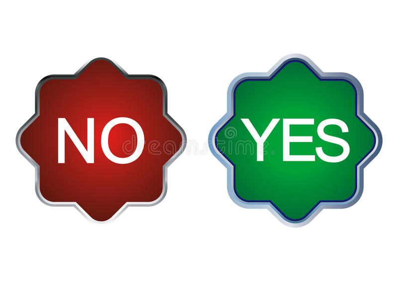 Download Yes or no stock vector. Illustration of buttons, reflection - 31051629