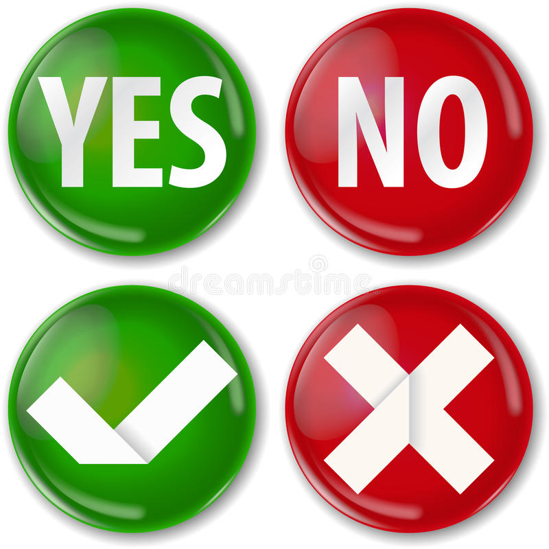 Yes Or No Royalty Free Stock Image