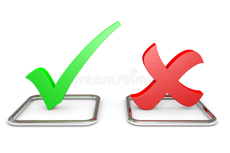 YES oder Nr.-Konzept. lizenzfreie abbildung