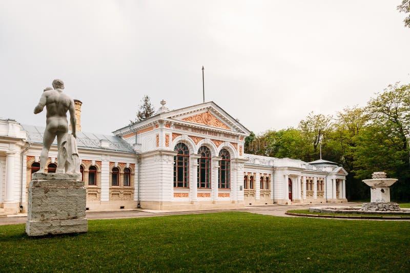 Yessentuki, territoire de Stavropol/Russie - 14 mai 2018 : bâtiment de salle de bains d'empereur Nicholas II Essentuki Bains supé images stock