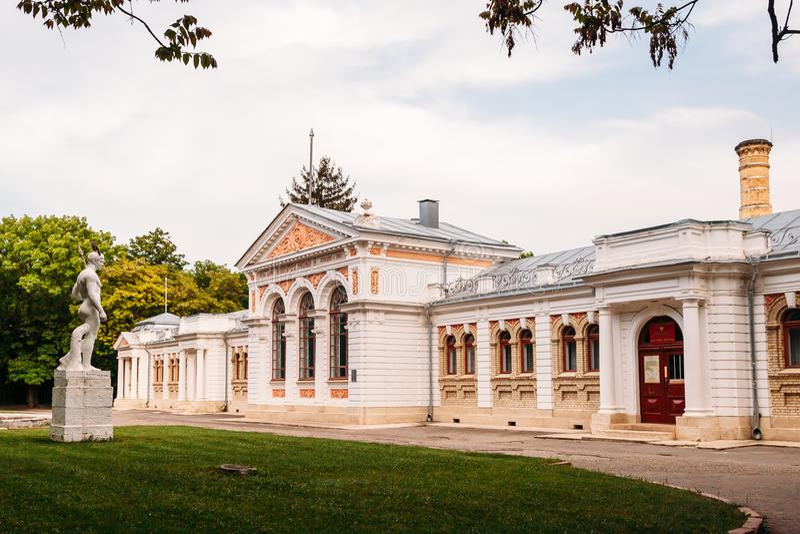 Yessentuki, territoire de Stavropol/Russie - 14 mai 2018 : bâtiment de salle de bains d'empereur Nicholas II Essentuki Bains supé image stock