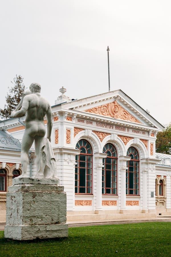 Yessentuki, territoire de Stavropol/Russie - 14 mai 2018 : bâtiment de salle de bains d'empereur Nicholas II Essentuki Bains supé image libre de droits