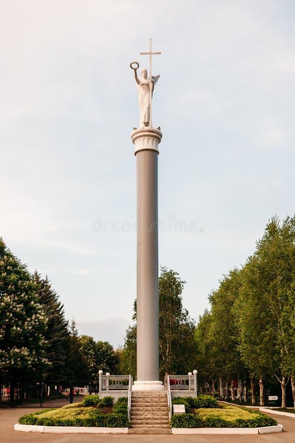 Yessentuki, territoire de Stavropol/Russie - 14 mai 2018 : sculpture de déesse Viktoria photographie stock libre de droits