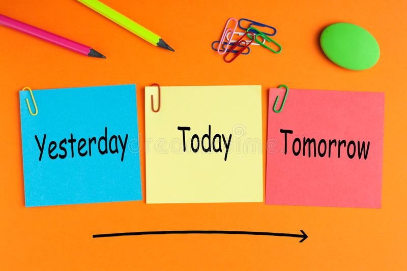 Yesterday, Today and Tomorrow royalty free stock photography
