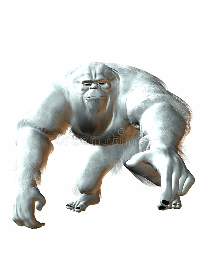 Download Yeti stock illustration. Illustration of yeti, ogre, snow - 2181260