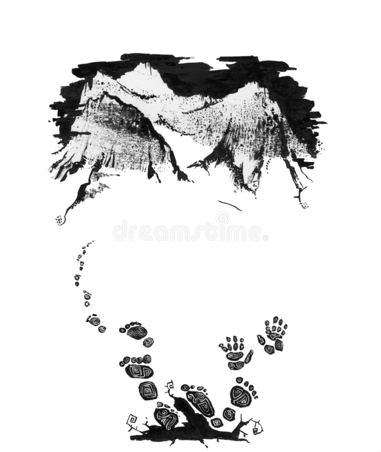 yeti stock illustrationer