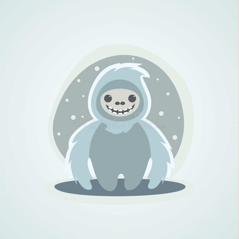 Download Yeti Bałwan Bigfoot Jest Unikalnym Ilustracją Ilustracja Wektor - Ilustracja złożonej z szczęśliwy, demonetyzacja: 65226333