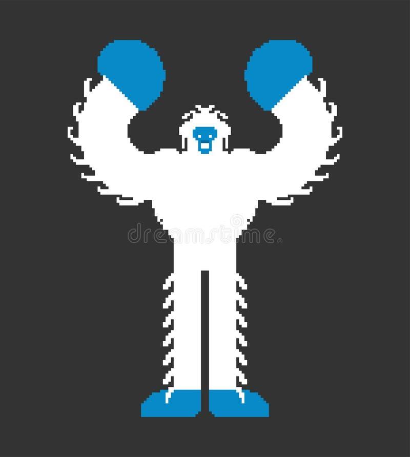 Yeti piksla sztuka Bigfoot pixelated obrzydliwego ba?wanu Stare gemowe grafika 8 kawa?ek Du?a stopa ilustracji
