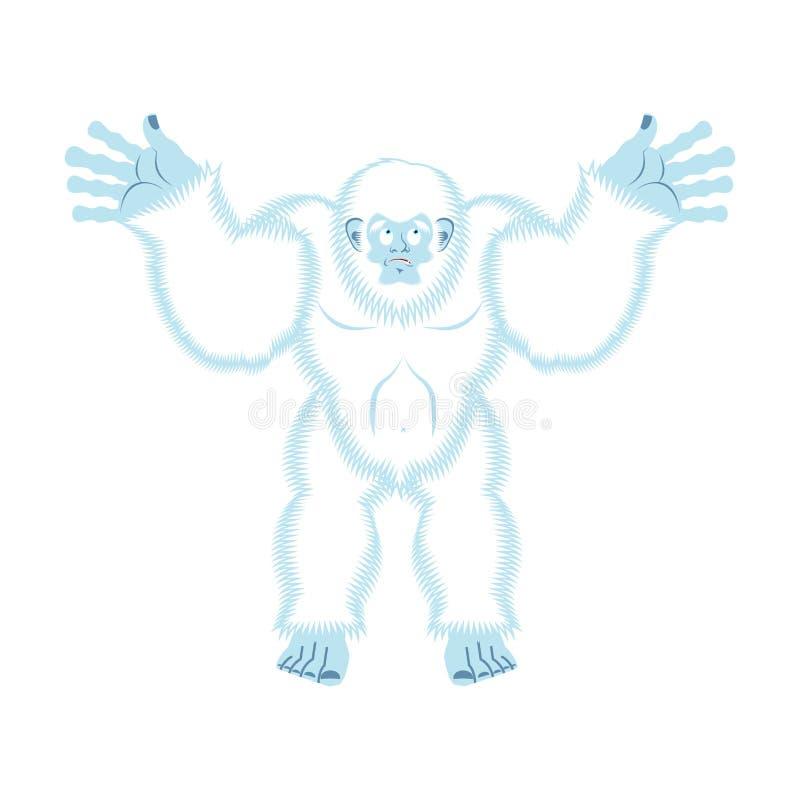 Yeti winny Bigfoot niespodzianka Obrzydliwy bałwan culpablen Vec ilustracja wektor