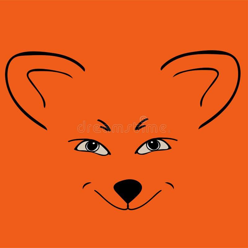 Yeux astucieux animaux principaux rouges de Fox illustration libre de droits