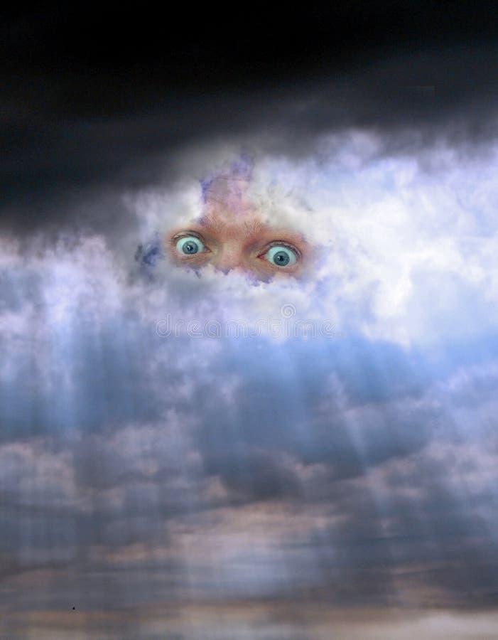 Yeux attentifs de ciel photos libres de droits