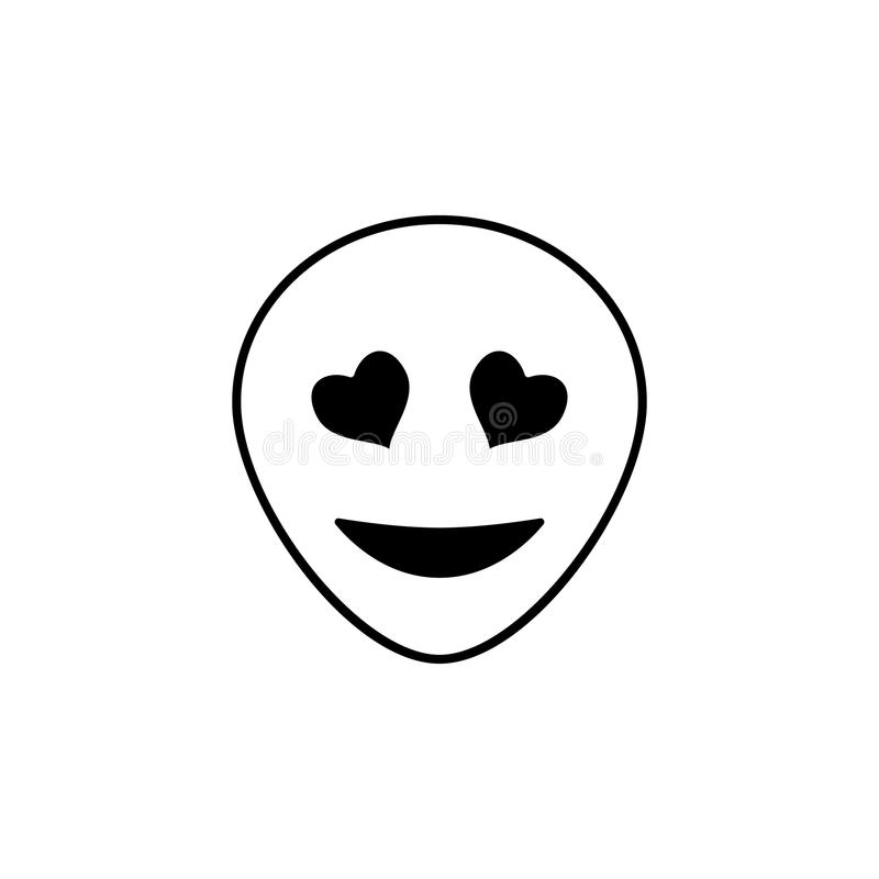 yeux avec l'icône de coeurs Ensemble détaillé d'avatars des icônes de professions De la meilleure qualité conception qualité de s illustration libre de droits