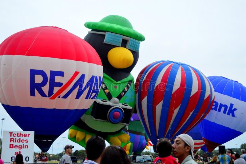 Yeux chauds de ballons à air au festival de cieux photo stock