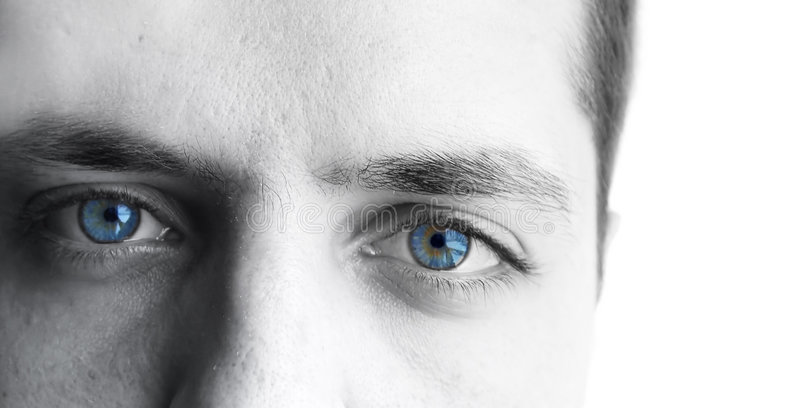 Yeux d'hommes photographie stock