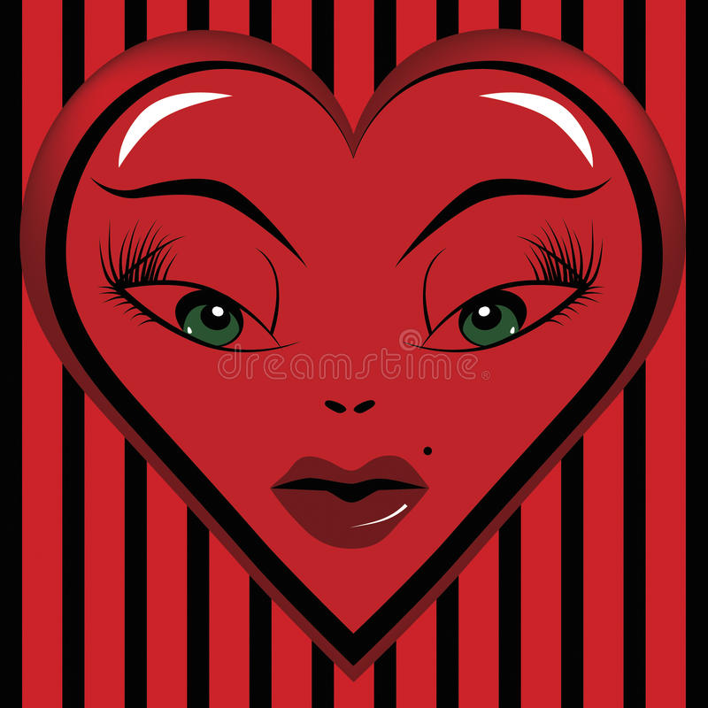Yeux d'un amoureux de Valentine illustration libre de droits
