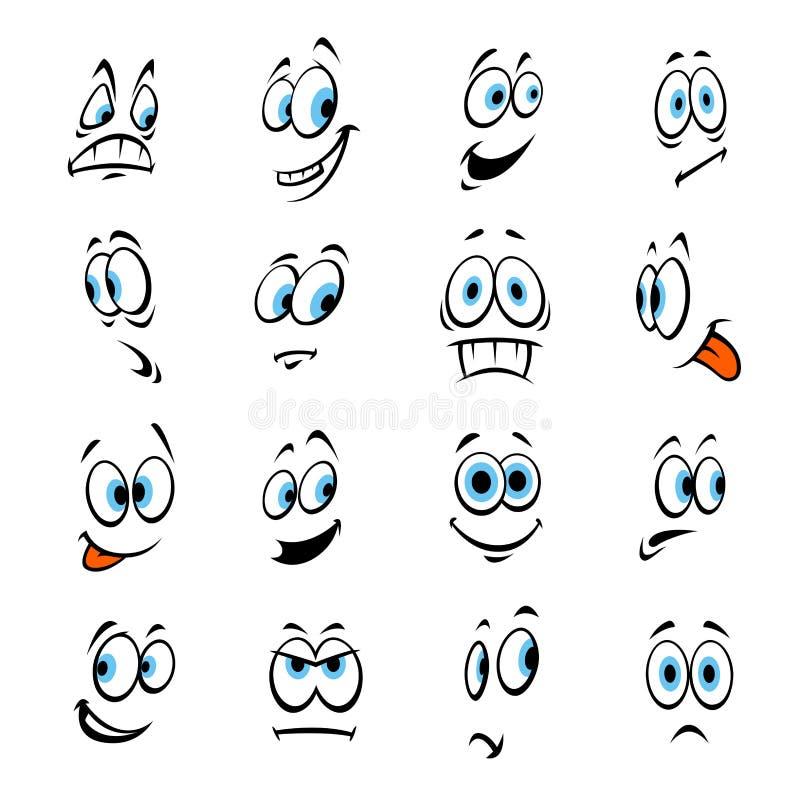 Yeux de bande dessinée avec des expressions et des émotions illustration de vecteur