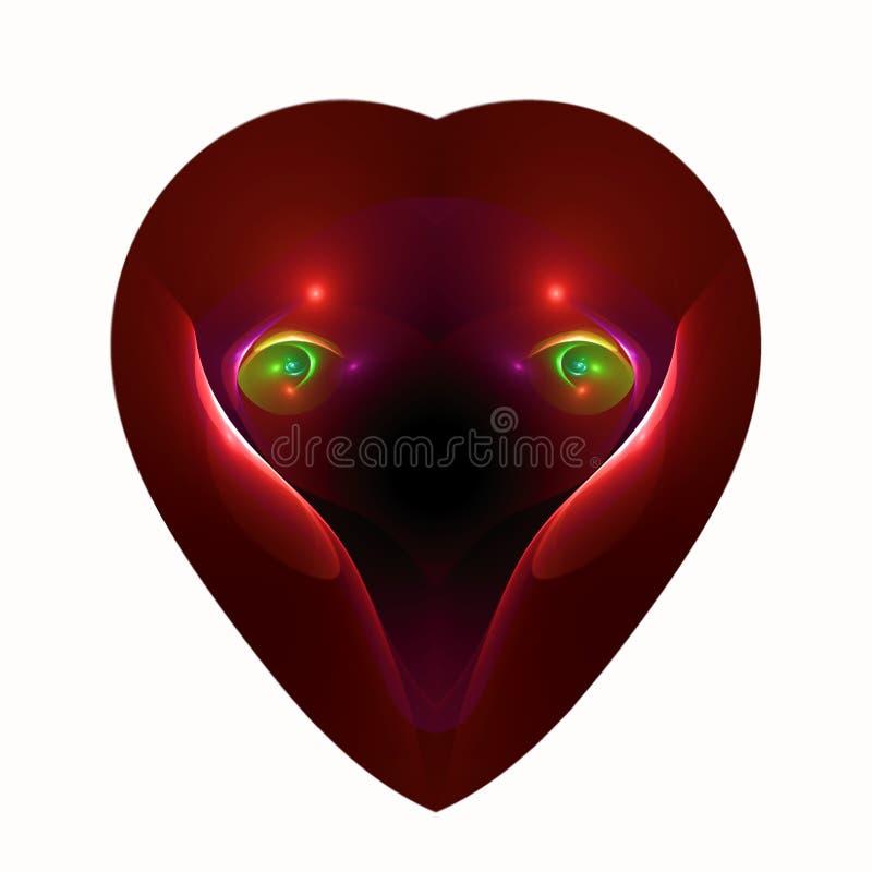 Yeux de l'amour à un coeur illustration stock