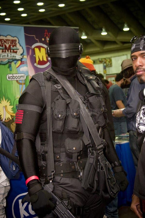 Yeux de serpent à Baltimore Comicon photos libres de droits
