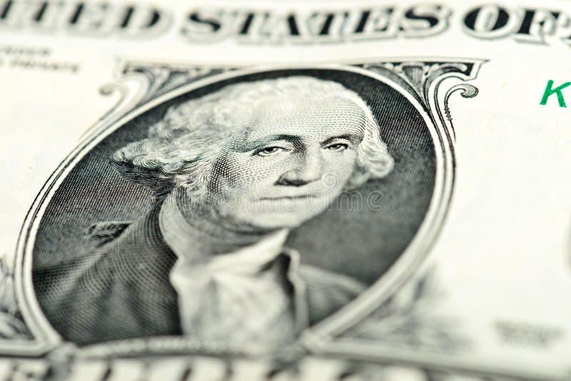Yeux de Washington sur le billet d'un dollar photos stock