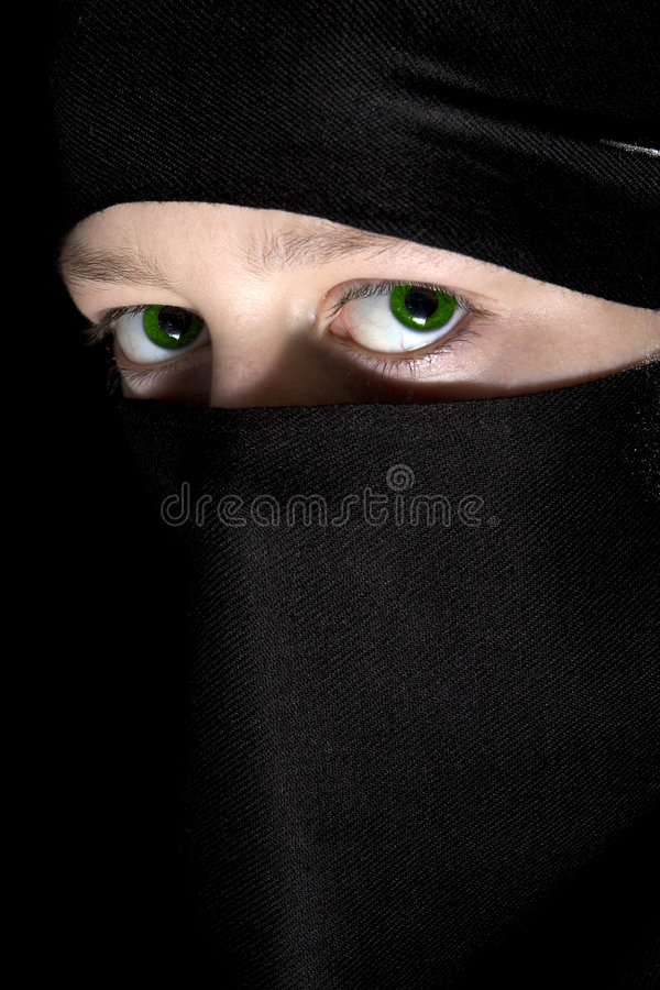 Yeux verts photo stock