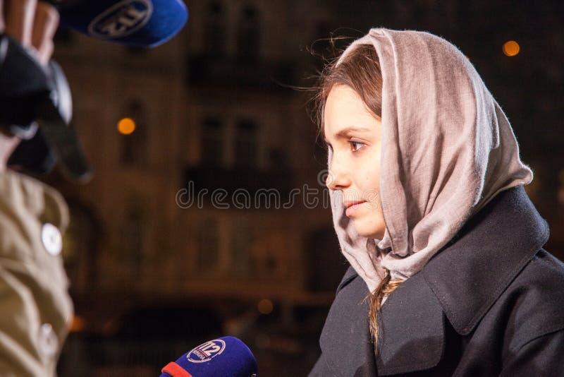Yevhenia Tymoshenko (Eugenia). Påsk 2014 i Ukraina 22.04.2014 arkivbild