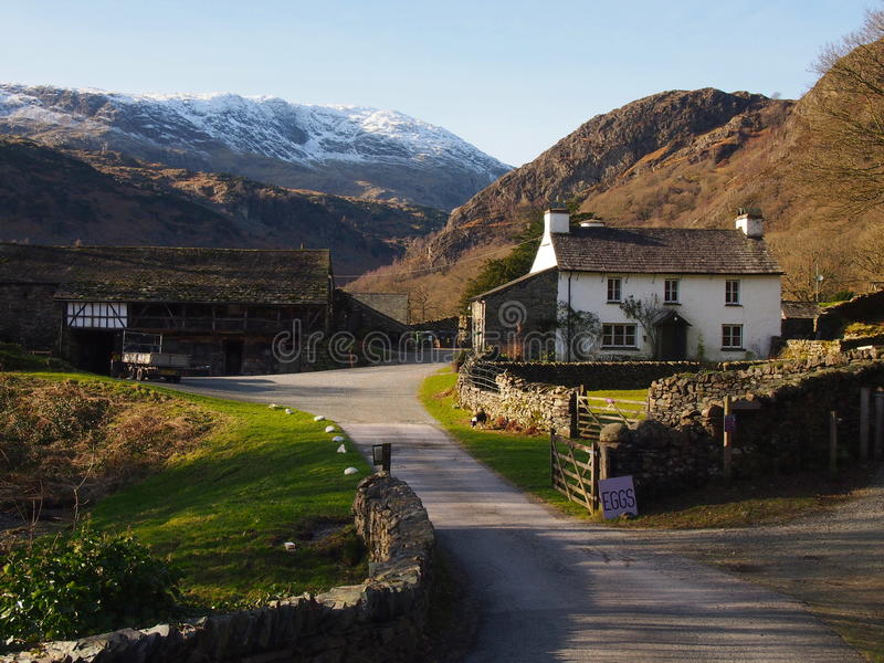 Yewtree Farm. Near Coniston in the Lake District, Great Britain stock photo