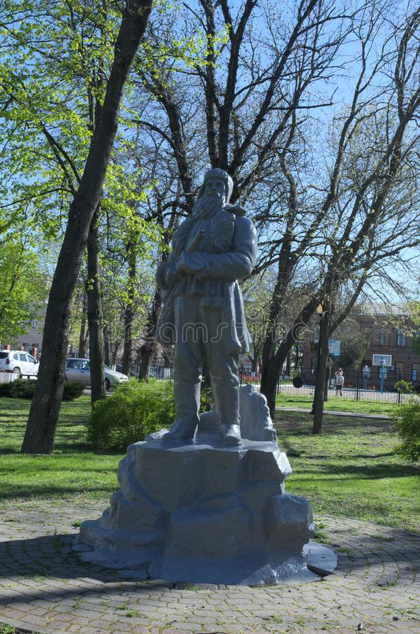 Yeysk, Russia-April 27, 2017: monument to partisans stock photography