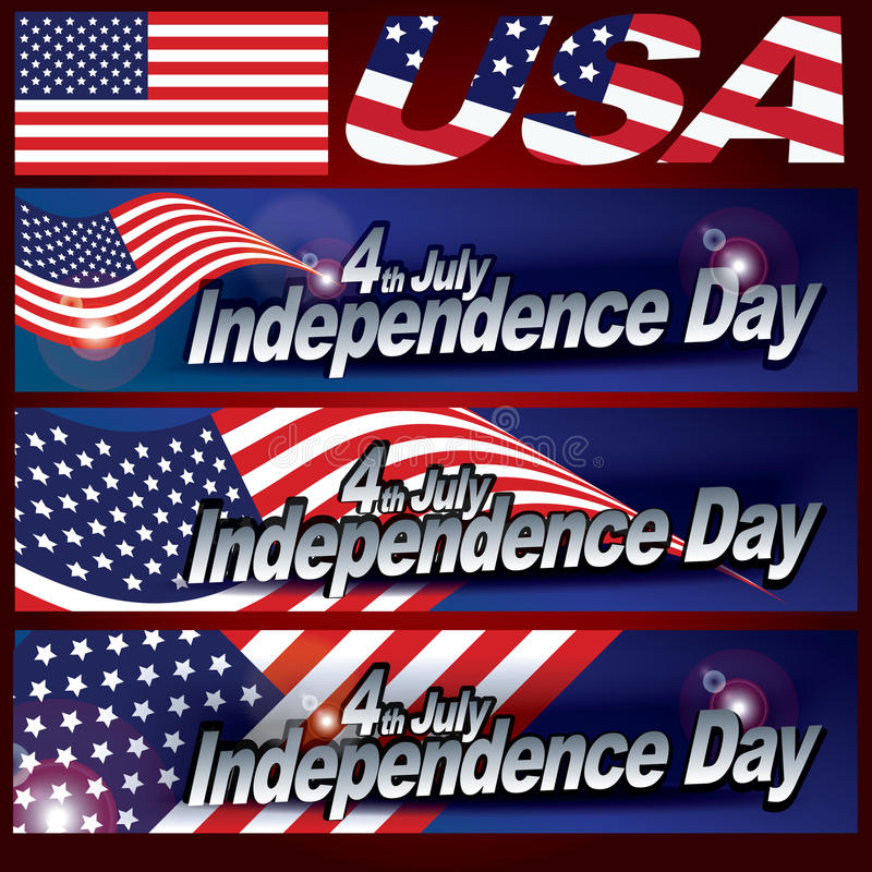 4yh del diseño de tarjeta del Día de la Independencia de julio fotos de archivo