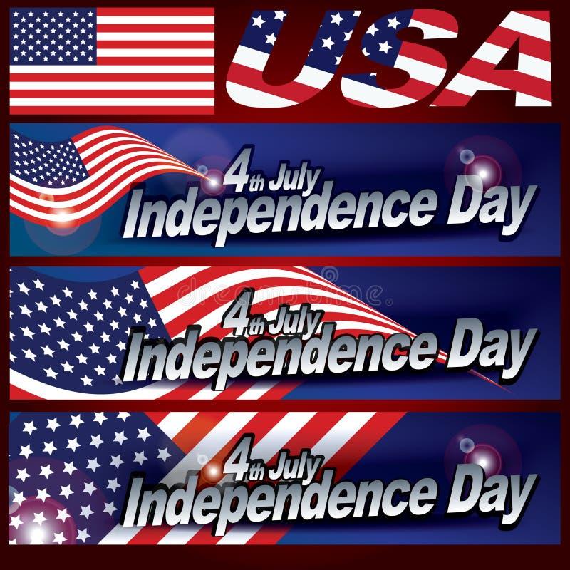 4yh Lipa dnia niepodległości karciany projekt zdjęcia stock