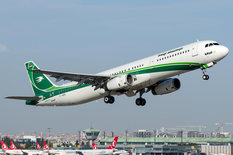 Yi-AGS Iraqi Airways, Luchtbus A321-200 stock fotografie