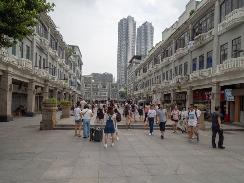 Yi De Road in Citt? Vecchia di Canton, Cina fotografia stock libera da diritti