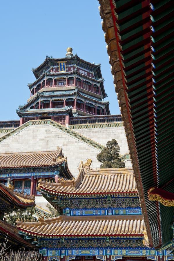Yi il yuan, palais d'été, Pékin, l'hiver, Chine photo libre de droits