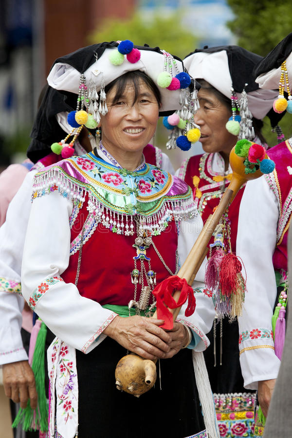 Free Yi Minority Women In Traditional Clothes Royalty Free Stock Image - 25450646