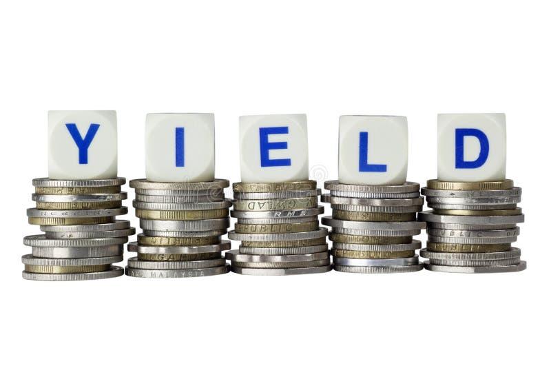 Yield stock photo