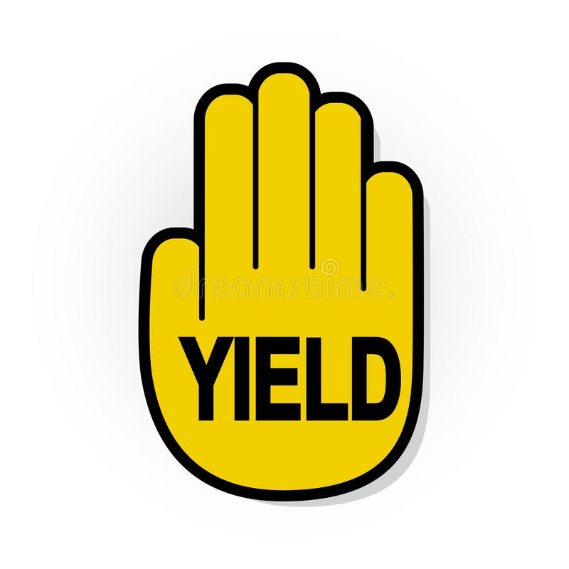 Free YIELD Hand Sign Stock Photography - 124650752
