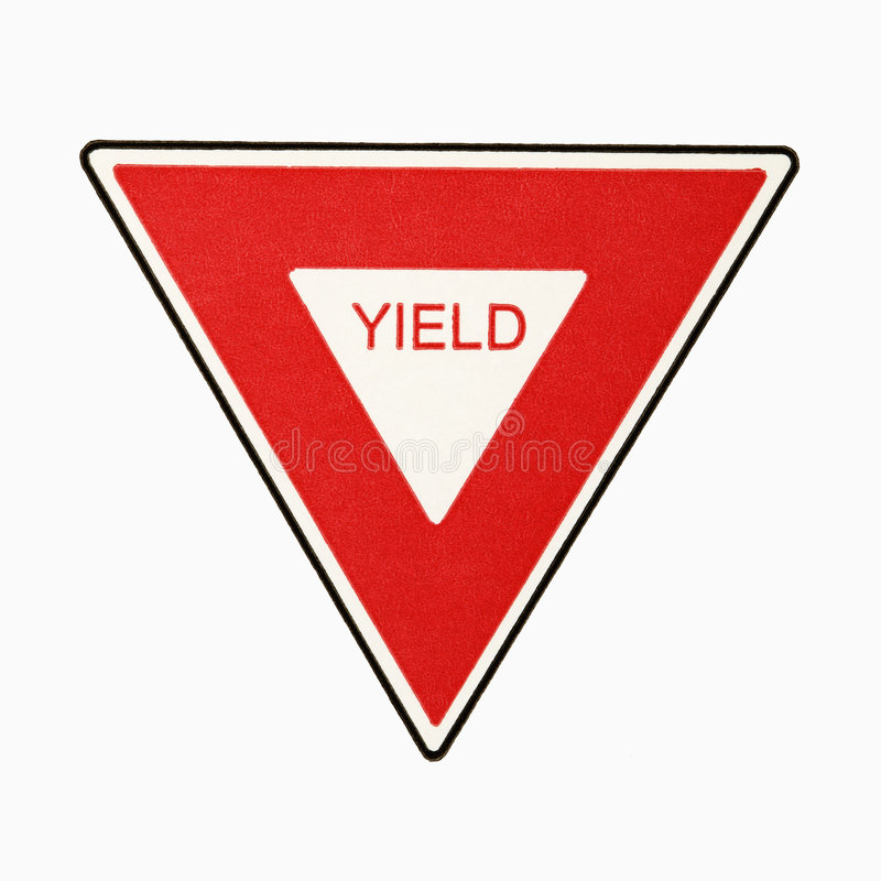 Download Yield Sign. Stock Photo - Image: 3532470