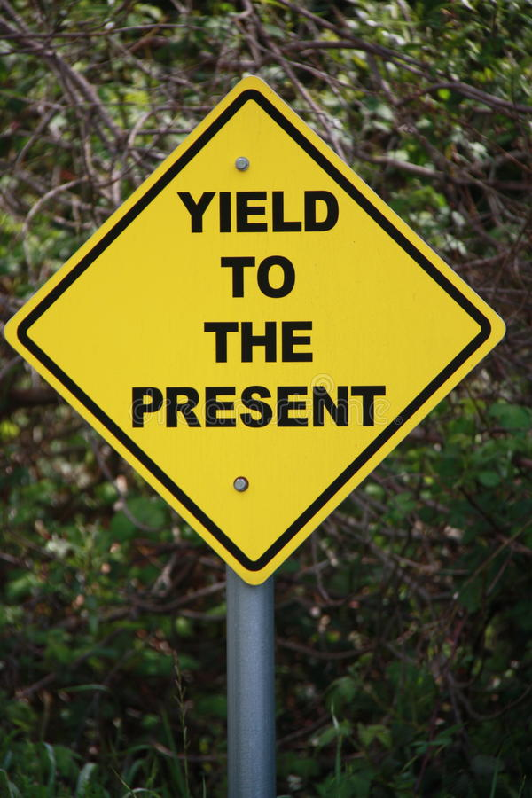 Yield to the Present royalty free stock images