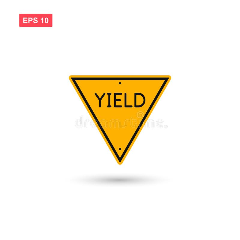 Free Yield Triangle Sign Icon Vector Isolated Royalty Free Stock Photo - 139365885