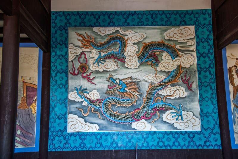Yiling Huangling tempelDayu tempel arkivfoton