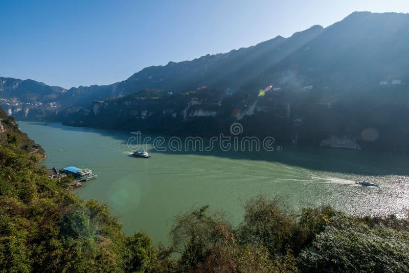 Yiling Yangtze River Three Gorges Dengying klyfta royaltyfria foton
