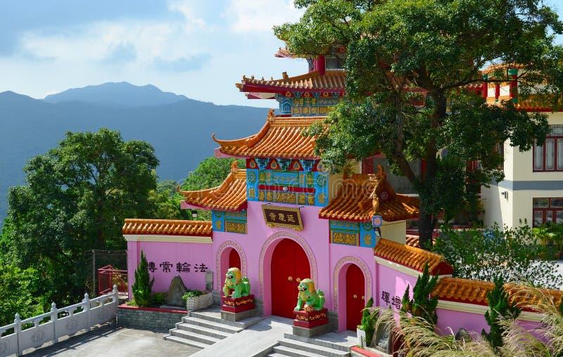 Yim Hing Temple, Lantau-Eiland, Hong Kong royalty-vrije stock foto