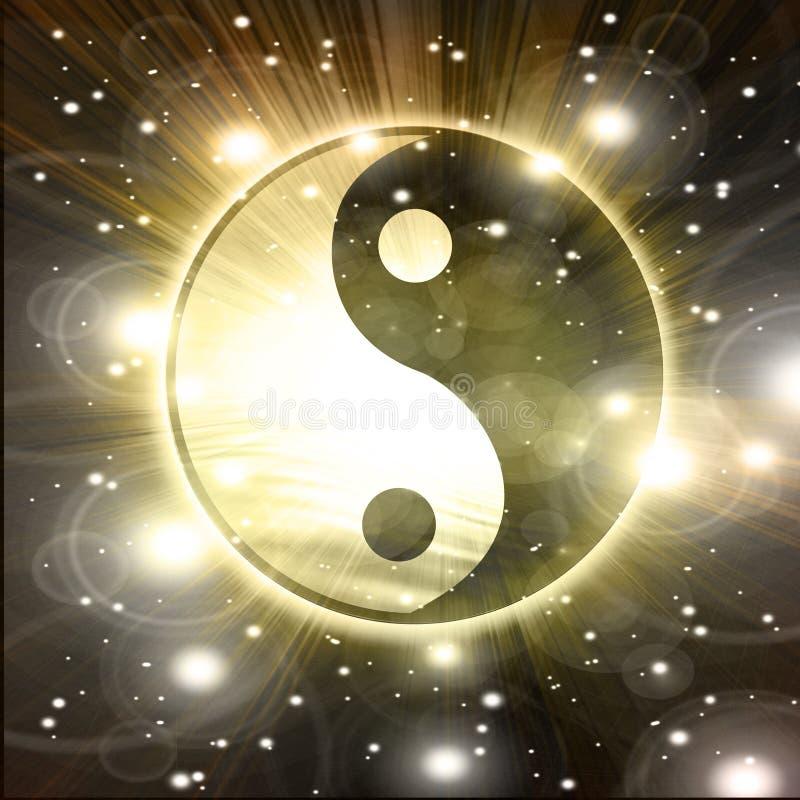 Yin杨符号 皇族释放例证