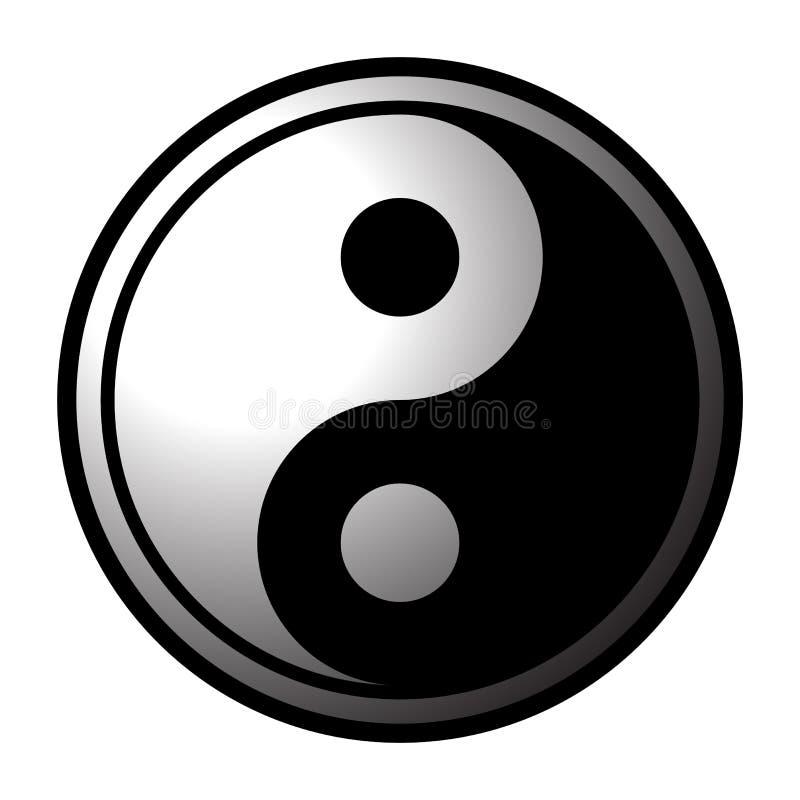 Yin και εικονίδιο Yang στοκ εικόνες