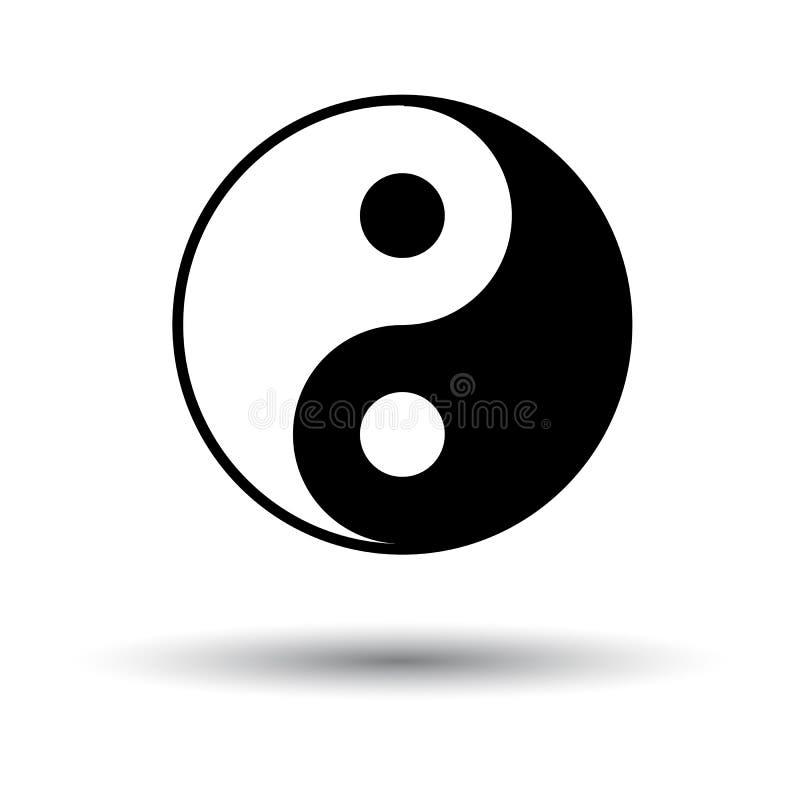 Yin και εικονίδιο Yang ελεύθερη απεικόνιση δικαιώματος