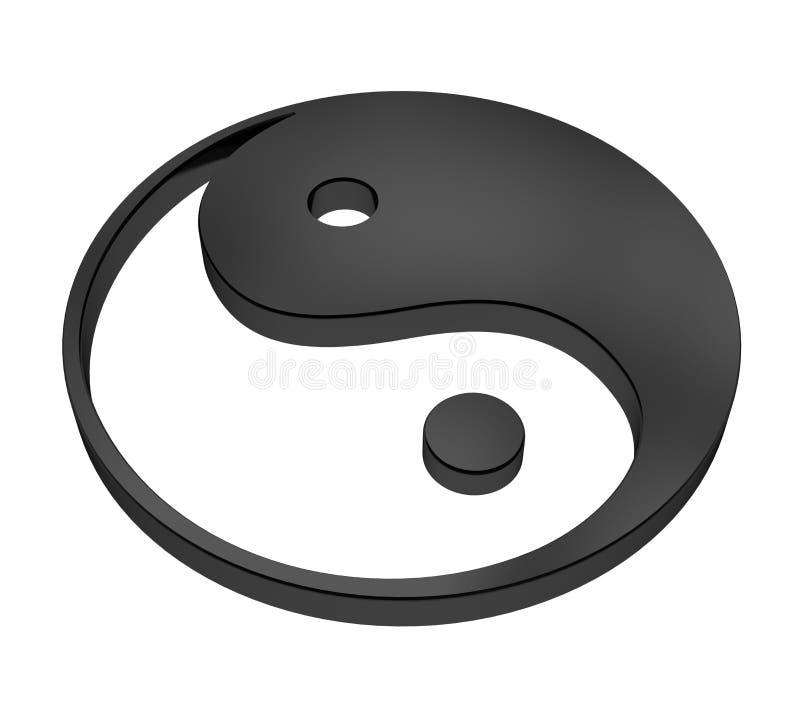 Yin και σύμβολο Yang που απομονώνεται ελεύθερη απεικόνιση δικαιώματος