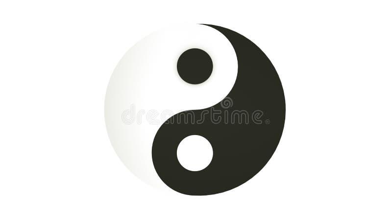 Yin και σύμβολο Yang που απομονώνεται r διανυσματική απεικόνιση
