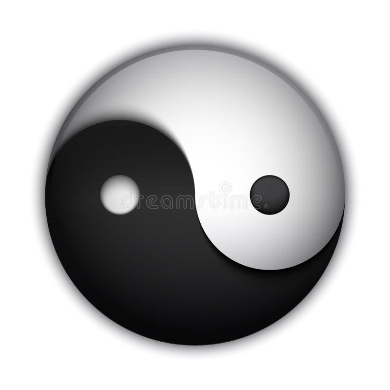 Yin και σύμβολο Yang απεικόνιση αποθεμάτων