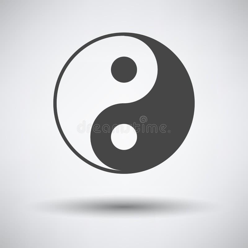 Yin και yang εικονίδιο διανυσματική απεικόνιση