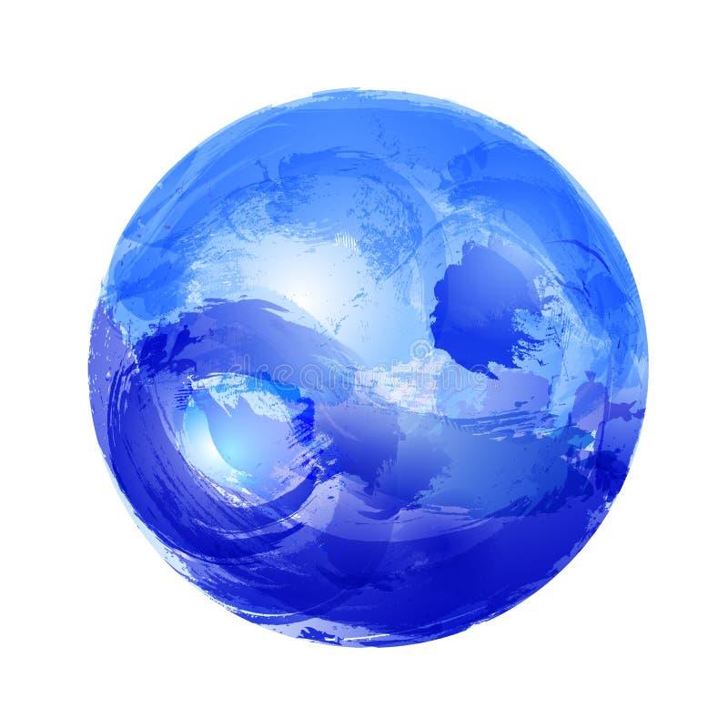 Yin και yang στο νερό ελεύθερη απεικόνιση δικαιώματος